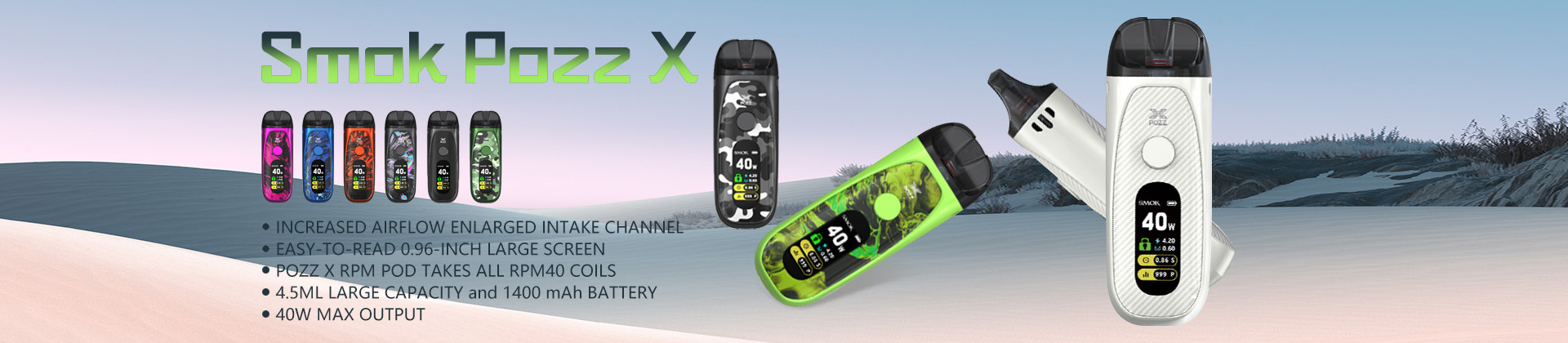 healthcabin - Smok Pozz X Pod System Kit 1400mAh 4.5ml @ just $45.99
