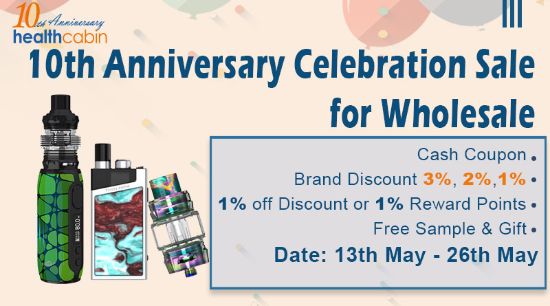 10th Anniversary Celebration Sale for Wholesale