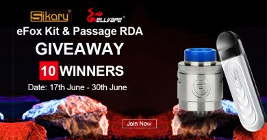 Giveaway Sikary Fox Kit & Hellvape Passage RDA, 10 winners
