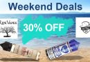 Weekend deals up to 30% off
