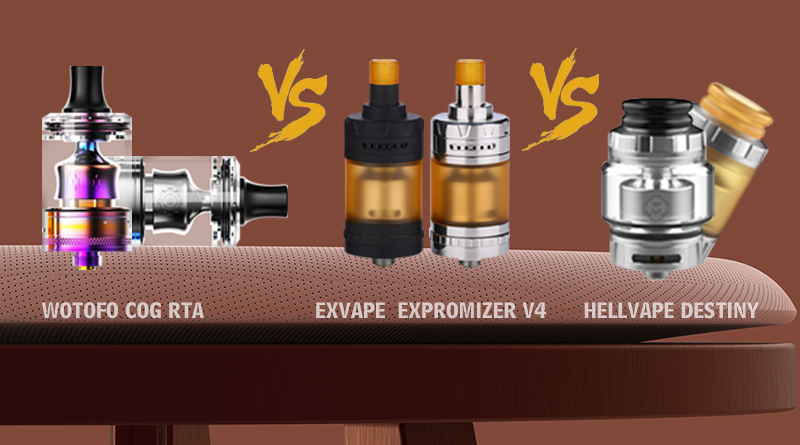 Wotofo COG MTL RTA Preview & EXVAPE Exomizer V4 MTL  and HELLVAPE Destiny RTA Review