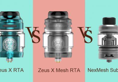 Geekvape Zeus X Mesh RTA Preview &  VS RTA VS OFRF NexMesh Sub Ohm Review