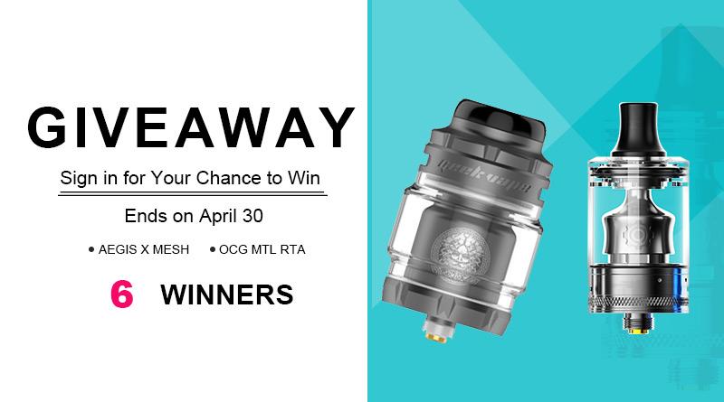 Geekvape Zeus X Mesh RTA & Wotofo COG MTL RTA Giveaway-6 Winners