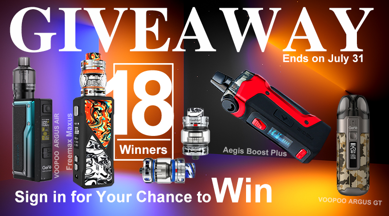GIVEAWAY-18 Winners-July