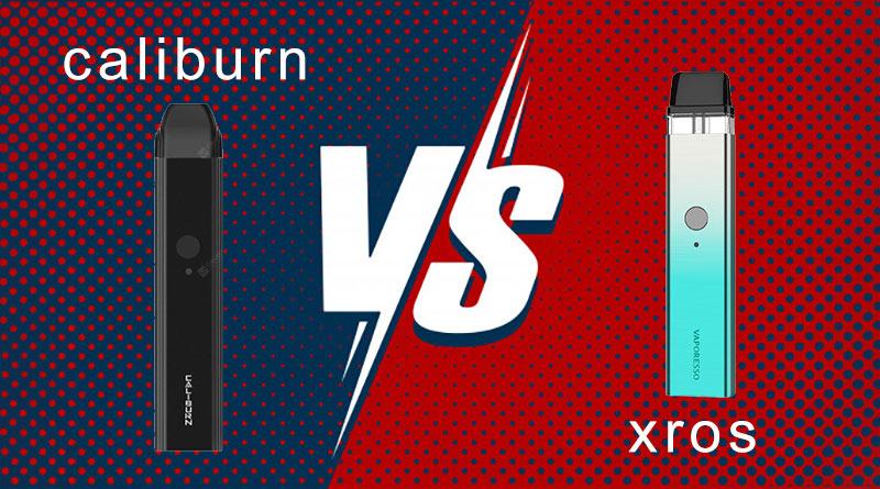 Vaporesso XROS Pod vs Uwell Caliburn Portable Pod