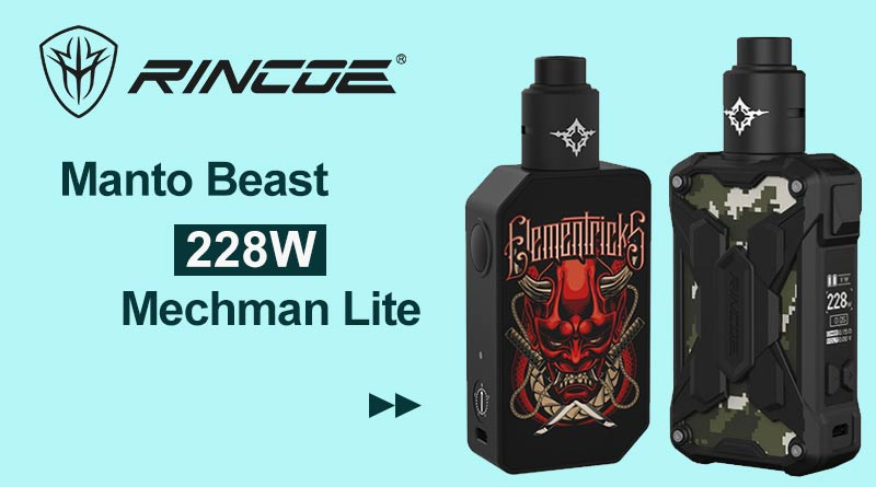 [Quick Look]Rincoe Manto Beast and Mechman Lite RDA Kit