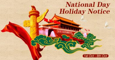 National Day Holiday Notice
