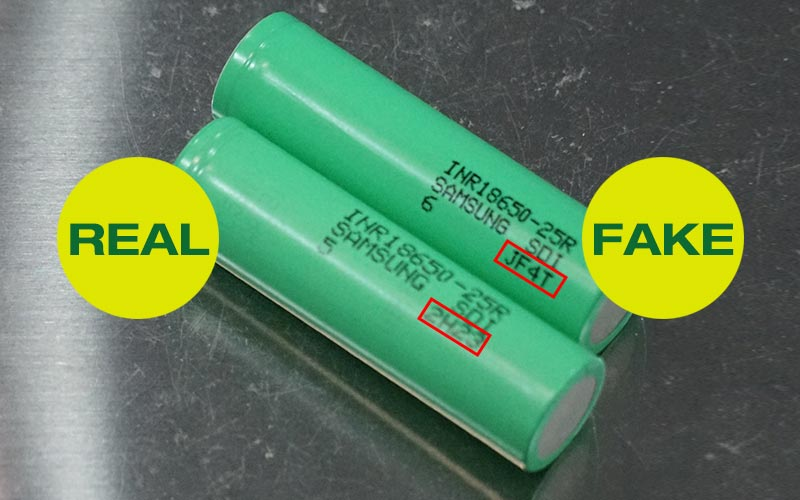 counterfeit 18650 battery
