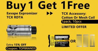 Exvape TCX RDTA Deal