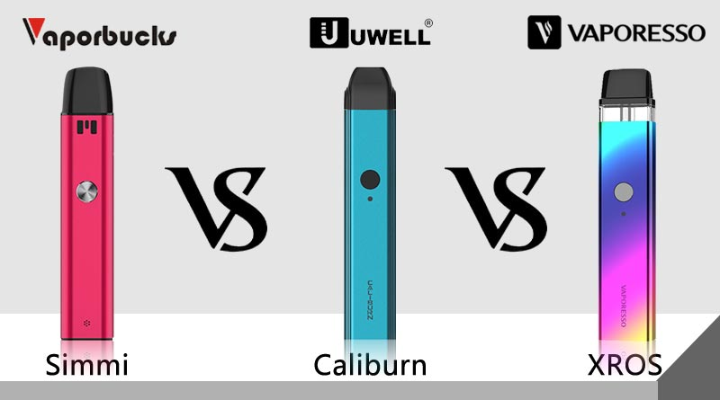 Vaporbucks Simmi vs Caliburn vs XROS