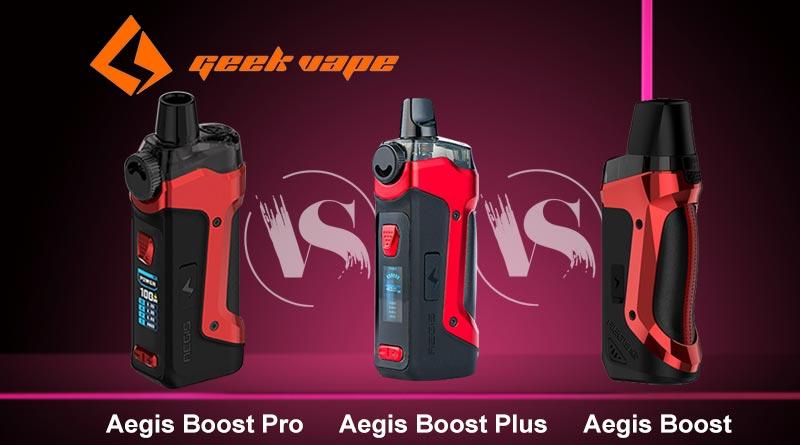 Geekvape Aegis Boost Series Comparison