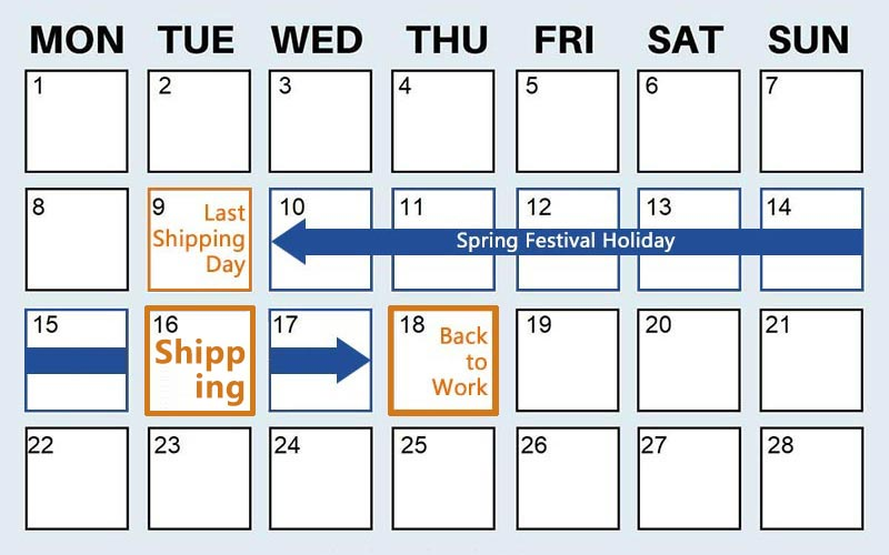 CNY Holiday Schedule