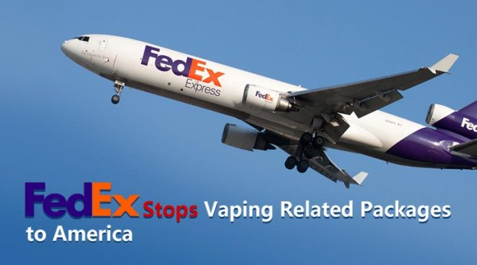 FedEx Stops Vaping Packages to America