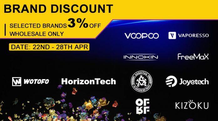 April Brand Discount - Round 2