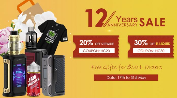 12th Anniversary Sale