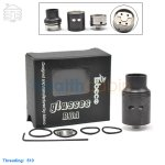 New! Tobeco Original Glasses Black Rebuildable Dripping Atomizer