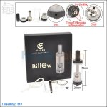 New ! Ehpro Authentic Billow Black RTA (Rebuildable Tank Atomizer)