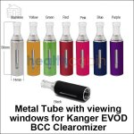 Metal Tube with viewing windows for Kanger EVOD BCC Clearomizer