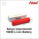 Sanyo Unprotected 16650 Li-ion Battery