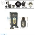 New ! Tobeco Mini Mad Hatter Black Rebuildable Dripping Atomizer (Clone)
