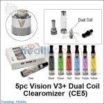5pc Vision V3+ Dual Coil Clearomizer (CE5)