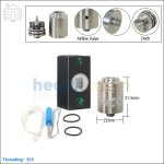 New ! Tobeco Veritas Stainless Steel Rebuildable Dripping Atomizer (Clone)