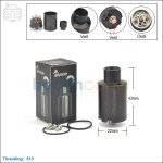 New ! Tobeco Kennedy V3 Black Rebuildable Dripping Atomizer (Clone)