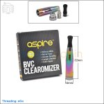 New ! 5pc Aspire CE5-S BVC Rainbow Clearomizer