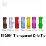510/901 Transparent Drip Tip in 7 colors