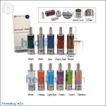KangerTech AeroTank MOW Glass Clearomizer with Upgraded Bottom Dual Coils