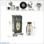 New ! Tobeco Mini Mad Hatter Stainless Steel Rebuildable Dripping Atomizer (Clone)
