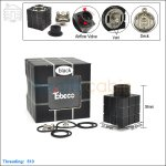 Tobeco Original Rubik Black Rebuildable Dripping Atomizer (With Peek Insulator)