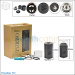 New ! Tobeco Original Turbo Black Rebuildable Dripping Atomizer