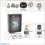 New ! Tobeco Dark Horse Black Rebuildable Dripping Atomizer (Clone)