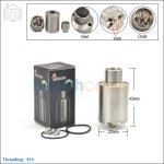 New ! Tobeco Kennedy V3 Stainless Steel Rebuildable Dripping Atomizer (Clone)