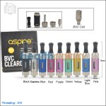 5pc Aspire Mini Nova-S Glass BVC Clearomizer