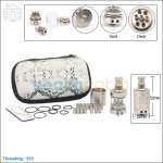 Hcigar Lancia Stainless Steel Rebuildable Dripping Atomizer (Clone)
