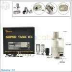 New ! Tobeco Original Supertank KS Stainless Steel Atomizer