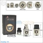 New ! Tobeco Hellboy Stainless Steel Rebuildable Dripping Atomizer (Clone)
