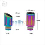 #59/#60 Rainbow 510 Stainless Steel Wide Bore Drip Tip