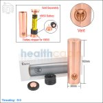 New ! Tobaco Mutant 26650 Copper Mod (Clone)