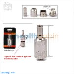 Kumiho A9 Stainless Steel Rebuildable Dripping Atomizer(Dual Coil, Adjustable Airflow)
