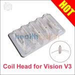 5pc Coil Head for Vision eGo Clearomizer V3
