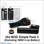 iGo MOD Simple Pack 3 ( Excluding 16650 li-ion Battery)
