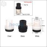 New ! Type C 22mm Plastic Chuff Enuff Drip Tip For Atty & Stillare RDA
