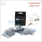 New ! 50pc UD Double Twisted Kanthal Prebuilt Coil (28ga,0.3mm)
