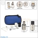 Hcigar Dark Horse Stainless Steel Rebuildable Dripping Atomizer (Clone)