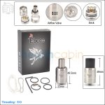 Tobeco Dark Horse Stainless Steel Rebuildable Dripping Atomizer (Clone)