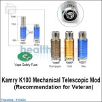 Kamry K100 Mechanical Telescopic Mod (Recommendation for Veteran)