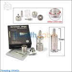 KangerTech AeroTank Mega Glass Clearomizer with Upgraded Bottom Dual Coils(Adjustable Airflow Tank System)